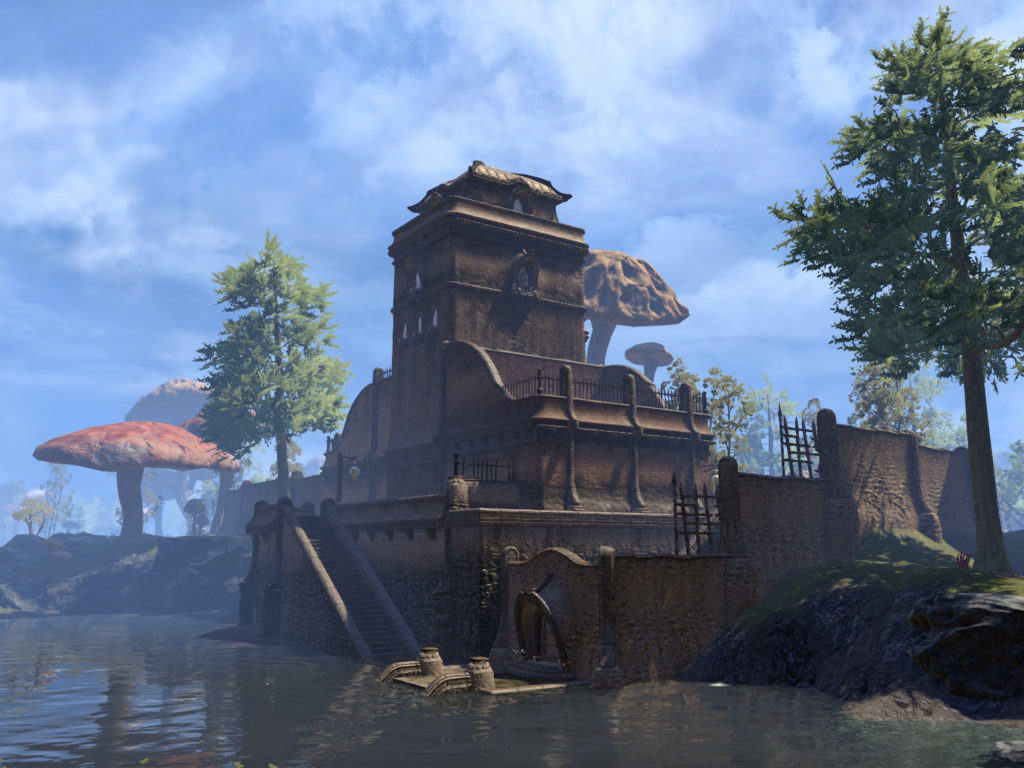 Amaya Lake Lodge, the Hlaalu-est of dwellings. Credit: Zenimax Online Studios, via uesp.net